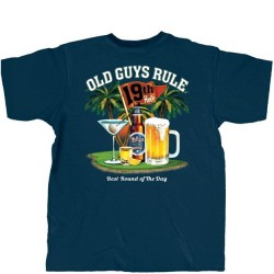 Old Guys Rule T-Shirt - Best Round of The Day in Navy