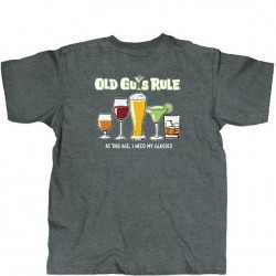 Old Guys Rule T-Shirt - Need Glasses in Navy