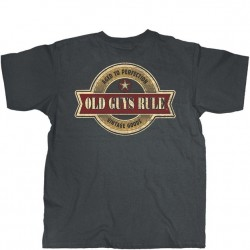Old Guys Rule T-Shirt - Vintage Star in Charcoal