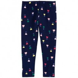 4 to 6X Girls Carters Heart Flower Capri Leggings