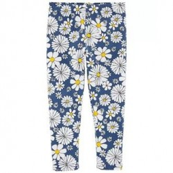 4 to 6X Girls Carters Daisy Capri Leggings