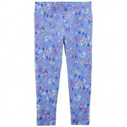 4 to 6X Girls Carters Floral Capri Leggings