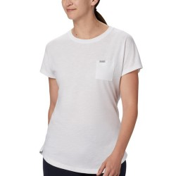 Columbia Cades Cape Short Sleeve Comfort Stretch 1-Pocket Tee - White