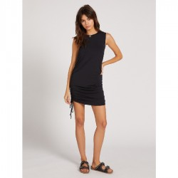 Volcom Knit Muscle Tank Mini Dress with Cinch Sides