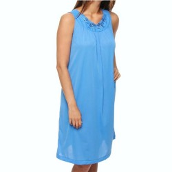 Sleeveless Mid-Length Nightgown - Sapphire