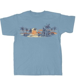 Old Guys Rule T-Shirt - Surf Hut in Stone Blue