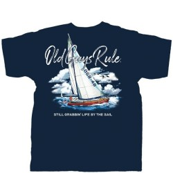 Old Guys Rule T-Shirt - Sailboat in Navy