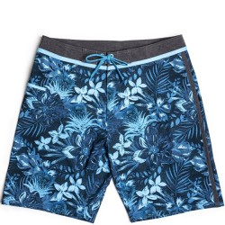 Burnside Stretch Boardshort - Blue Floral