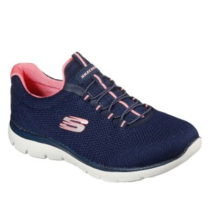 Skechers Summits - Cool Classic - Navy/Pink