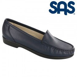 SAS Slip-On Moccasin Loafer Simplify Style #1550 - Navy Leather