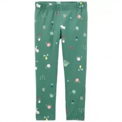 4 to 6X Girls Carters Floral Bunny Capri Leggings