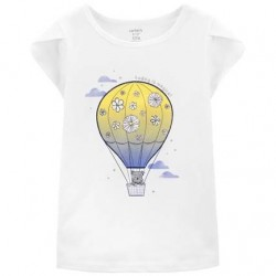 4 to 6X Girls Carters Hot Air Balloon Jersey Tee