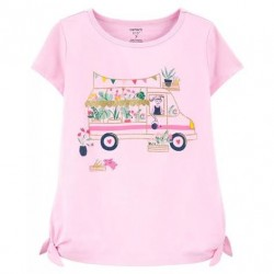 4 to 6x Girls Carters Glitter Camper Jersey Tee