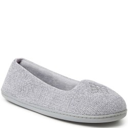 Dearfoam Chenille Slipper - Sleet Grey