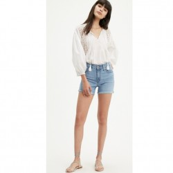 Levi's Mid-Length Rolled Cuff Short in Oahu Clouds Light Wash