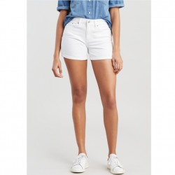 Levi's Mid-Length Rolled Cuff Short in White Ice