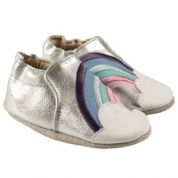 Infant Shoes Robeez Hope Soft Soles, Silver Leather