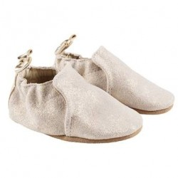 Infant Shoes Robeez Gold Pretty Pearl Soft Soles