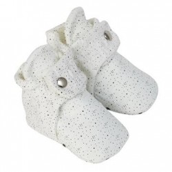 Infant Shoes Robeez Speckled Snap Booties White
