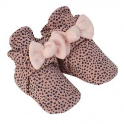 Infant Shoes Robeez Animal with Bow Snap Booties Pink