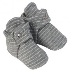 Infant Shoes Robeez Grey Stripe Snap Booties
