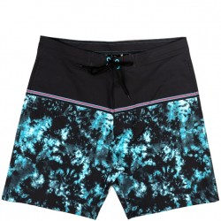 Burnside Stretch Boardshort - Turquoise Watercolor