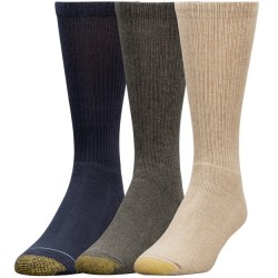 Gold Toe 3 pack Uptown Socks - Olive Heather/Tobacco Heather/Navy Heather