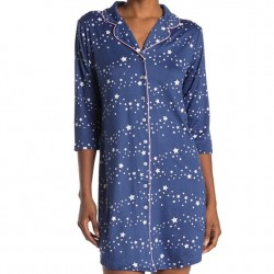 Soft Brushed Jersey Sleepshirt - Navy Stars
