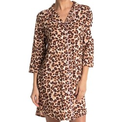 Soft Brushed Jersey Sleepshirt - Animal Print