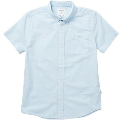 Boys 8 to 20 Quiksilver Short Sleeve Shirt - Airy Blue