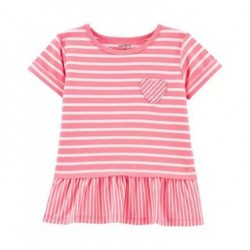 Toddler Girls Carters Striped Jersey Top