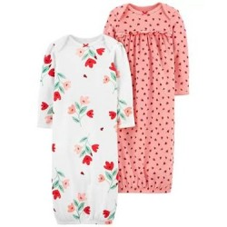 Infant Girls Carters 2-Pack Nightgowns