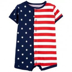 Infant Boys Carters 4th Of July Flag Snap-Up Romper