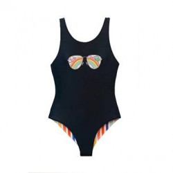 7 to 16 Girls Reversible 1-piece Swimsuit