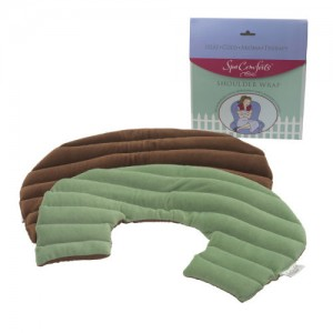 DREAMTIME SPA COMFORTS SHOULDER WRAP - SAGE/BROWN