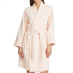 Lauren by Ralph Lauren Short Terry Robe - Pink