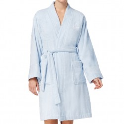 Lauren by Ralph Lauren Short Terry Robe - Light Blue