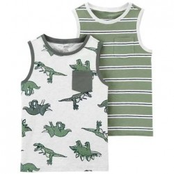 4 to 7 Boys Carters 2-Pack Tanks