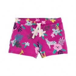 Toddler Girls Carters Purple Floral Pull-On Short