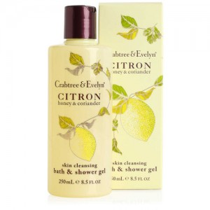 CRABTREE & EVELYN CITRON, HONEY & CORIANDER SKIN CLEANSING BATH AND SHOWER GEL