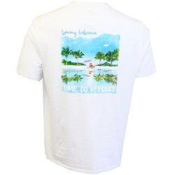 Tommy Bahama Short Sleeve T-Shirt - Time To Reflect in White
