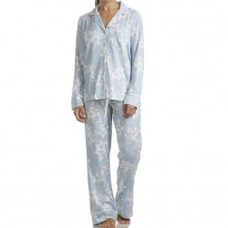 Splendid Pillow Soft Pajama Set - Blue Leaves