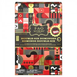 FAO Schwarz Double Six Color Dot Dominoes, Classic Matching Game