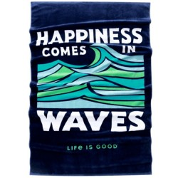 Life is Good Towel - Happiness Comes in Waves