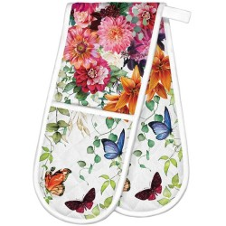 Michel Design Works Sweet Floral Melody - Double Oven Glove