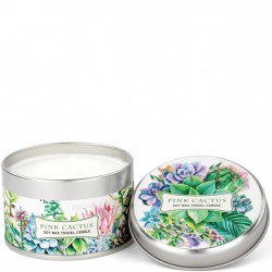 Michel Design Works Pink Cactus - Travel Candle