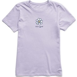 Life is Good Short Sleeve Crew Tee - Daisy in Lilac Purple