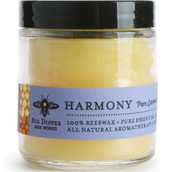 Beeswax Apothecary Glass 3.2 oz - Harmony (Pure Lavender)