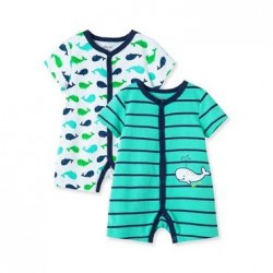 Infant Boys Whale 2-Pack Rompers