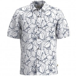 Dockers Cotton Textured Short Sleeve Shirt - White Floral
